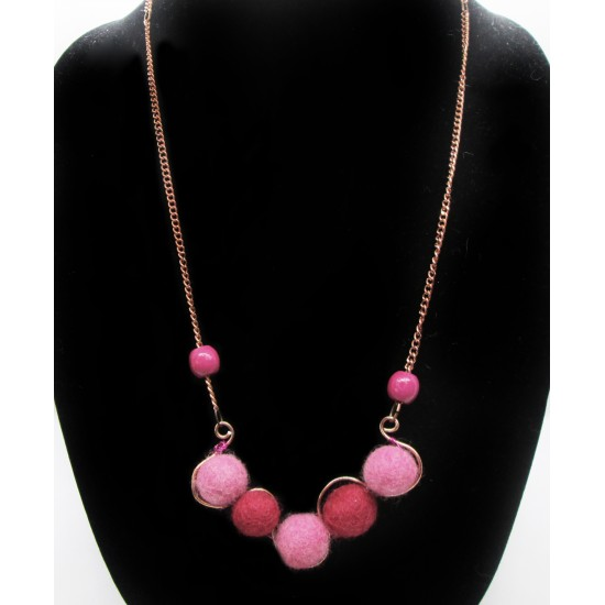 Collier Rose et Rouge
