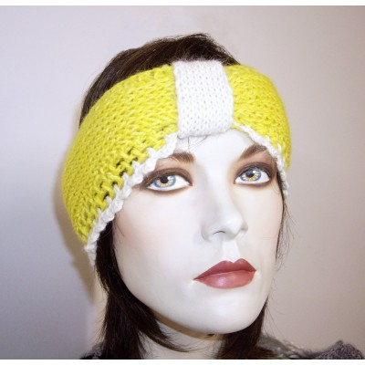 Yellow and White Headband